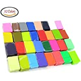 DIY Colored Clay 32 Colors DIY Creative Street Model Clay Soft Molded Oven Baking Clay Tutorial Best gift for Children