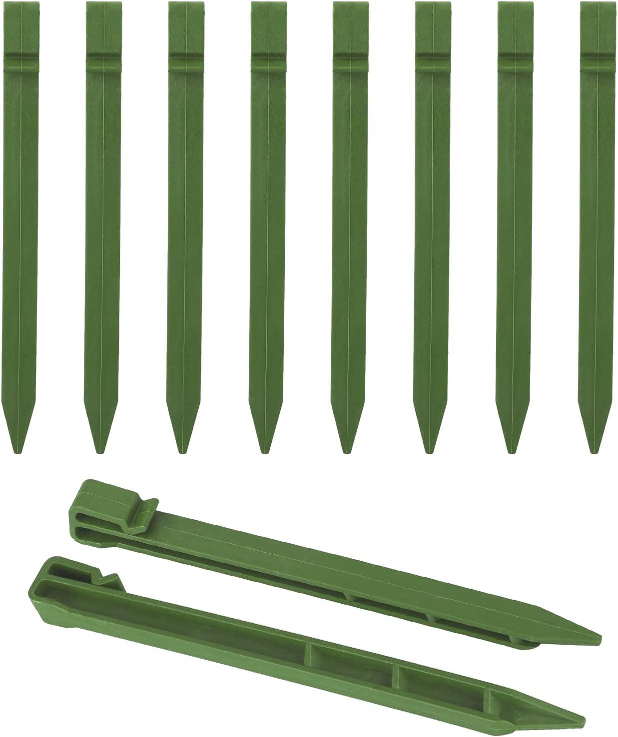 Ironhorse Postes de jardín de plástico, anclajes de jardín, anclajes de paisaje, clavos de tela a prueba de césped para fijar vallas, césped, lonas y bordes de paisaje