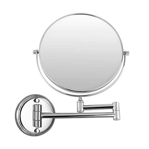 Ryohin 8 Inch Wall Mounted Makeup Mirror, 1×/3× Magnification Mirror for Bathroom, Chrome