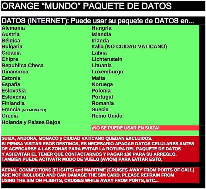 TARJETA ORANGE 4G MUNDO 5€ SALDO NUEVA HABLA Y NAVEGA LISTAS PARA FUNCIONAR: Amazon.es: Electrónica