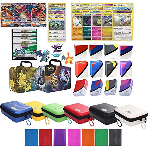 Charizard GX Premium Collection with Card Carrying Case, 100 Sleeves, Deck Box, Mini Binder and Figures in Collector Chest
