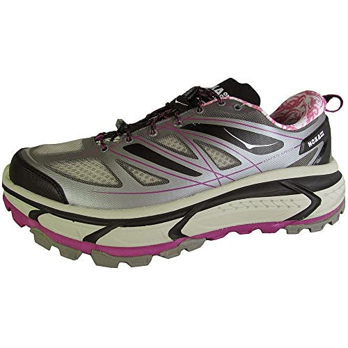2f7d241cb63c5f Hoka One One Mafate Speed Womens Grey Mesh Athletic Lace Up Running Shoes 10