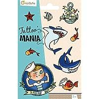 Avenue Mandarine CC004O Tattoo Mania voor kinderen vanaf 5 jaar, 1 verpakking, matroos