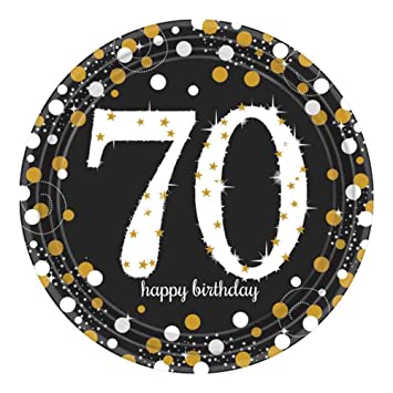 70th Birthday Party Paper Plates | Age 70 Party Supplies  sc 1 st  Amazon.com & Amazon.com: 70th Birthday Party Paper Plates | Age 70 Party Supplies ...