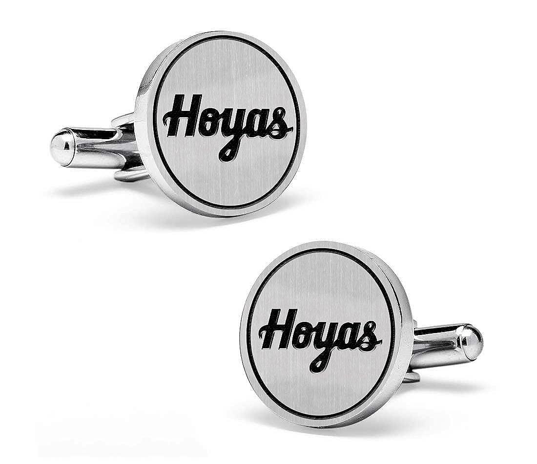 Georgetown Hoyas Cufflinks Sterling Silver Medium Size Round Top