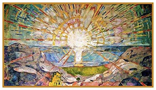Orenco Originals The Sun Symbolist Artist Edvard Munch Counted Cross Stitch Pattern ()