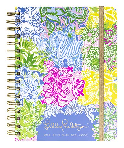 Lilly Pulitzer Large Aug. 2019 - Dec. 2020 17 Month Hardcover Agenda, 8.88