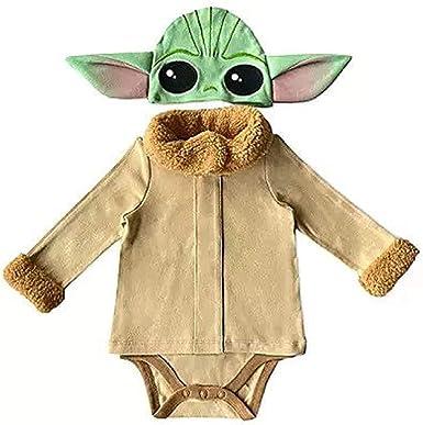 Chilren Cosplay Yoda Baby Toddler The Mandalorian Costume Star Wars Party Set