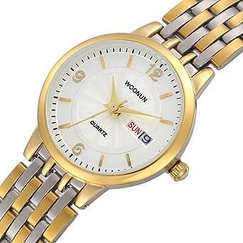WOONUN Luxury Brand Watches Women Stainless Steel Calendar Quartz Watches For Ladies