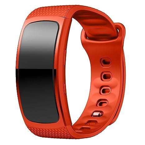 Metou03 pour Samsung Gear FIT2 / Vitesse FIT2 Pro, Souple Remplacement Silicone Sport Band pour