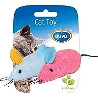 DUVO+ CATTOY Assortment of Mice 2pcs 6 x 5 x 3cm with Catnip