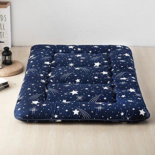 (MUZIDP Thickened Tatami Mattress,Japanese-Style Feather Velvet Folding Quilted Mattress,Double Single Anti allergenic Sleeping mat-K 100x200cm(39x79inch))