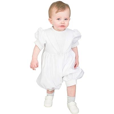 Dressvip Bébé Garçon Costumes de Baptême Combinaisons Jumpsuits Blanc fbfac004106