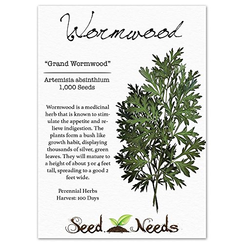 Compra Package of 1,000 Seeds, Wormwood Herb (Artemisia absinthium) Non-GMO Seeds by Seed Needs USA en Usame