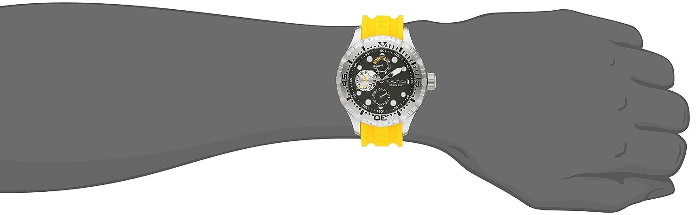 Amazon.com: Nautica Mens N15107G BFD 100 Multi Analog Display Japanese Quartz Yellow Watch: Nautica: Watches