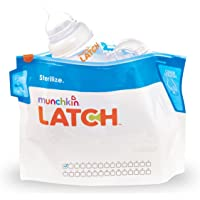 LATCH Munchkin Sterilizer Bags-6 Piece White/Blue