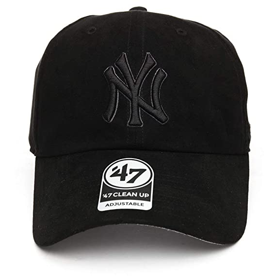 0de9d2bd '47 Brand Cap MLB New York Yankees Clean Up Curved V Relax Fit Black  Adjustable