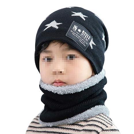 Amorar Cappello per Bambini Invernale per Bambina Cappello Lavorato a  Maglia con Cappuccio Caldo Sciarpa a 19b51f29d627