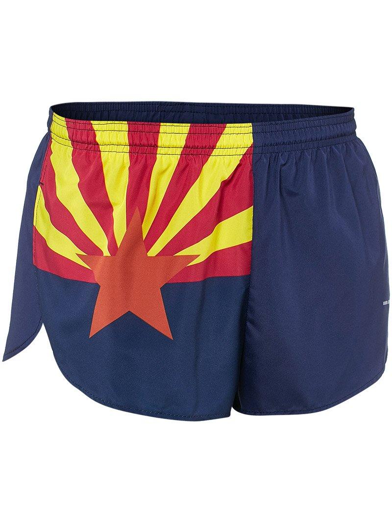 "BOA Men's 1"" Elite Split Leg Print フラグランニングショーツ(1000CP) B0115KV35Y Large|アリゾナ(Arizona) アリゾナ(Arizona) Large"