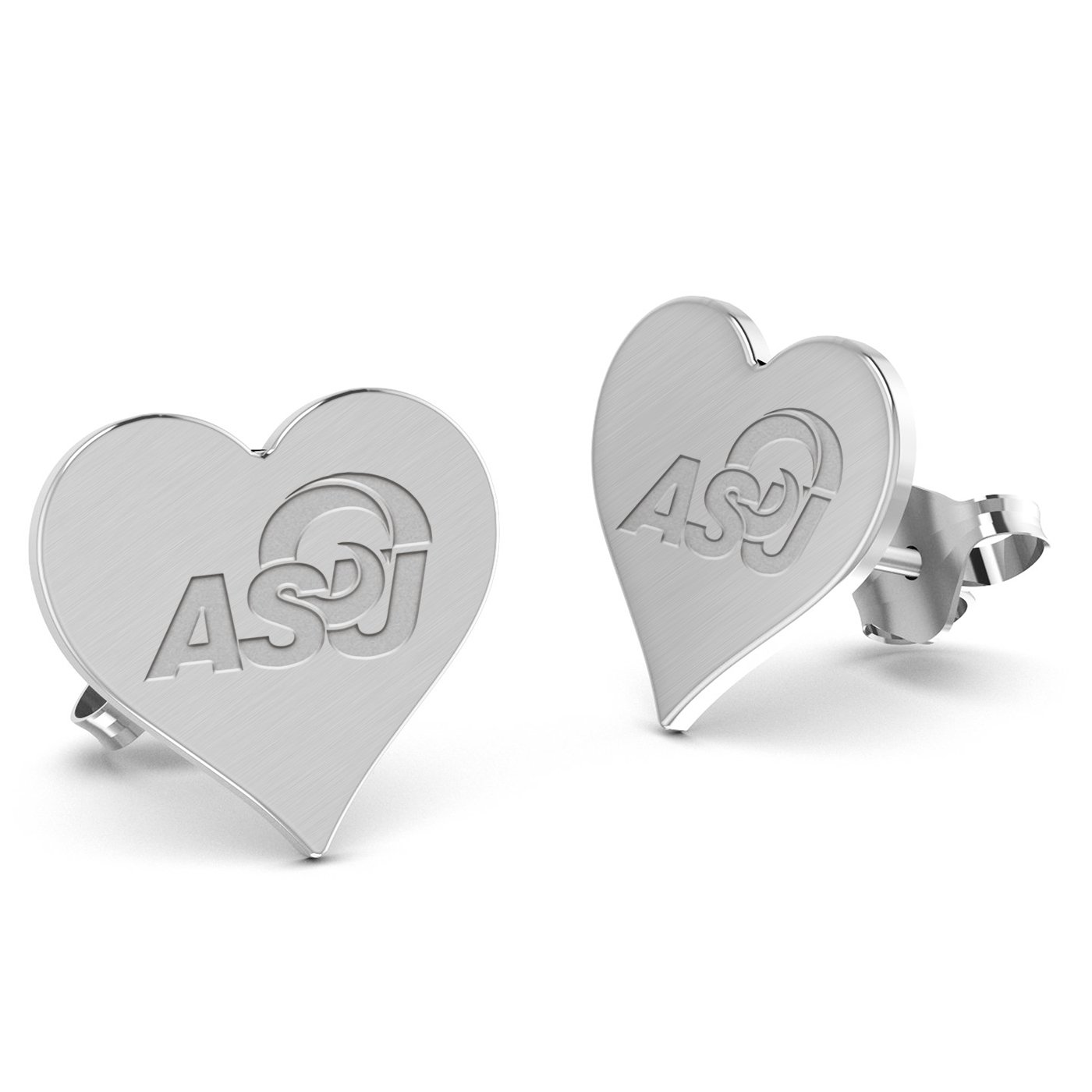 Alabama State University Hornets Heart Stud Earring See Image on Model for Size Reference