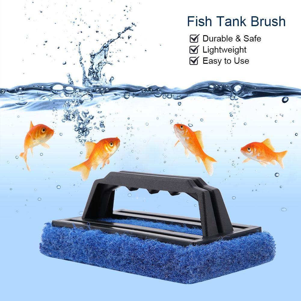 Yosooo Aquarium Fish Tank Cleaning Brush Glass Algae Scraper Cleaner Aquarium Cleaning Tool Hand-held Plastic Bathroom Tile Surfaces Household Kitchen
