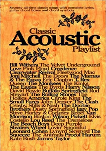 Classic Acoustic Playlist: Chord Songbook Chord Songbooks: Amazon.co ...