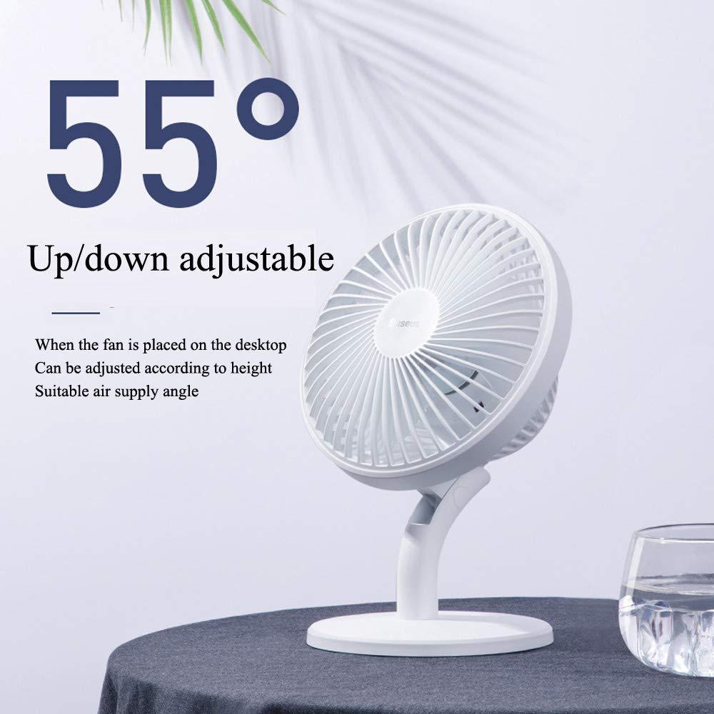 Ccsluo Desktop Fan Office Cycle Small Fan,White Indoor USB bass Mini Table Fan