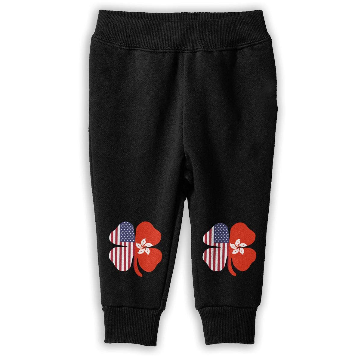 Childrens Athletic Pants American Hong Kong Flag Shamrock Sweatpants