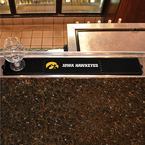 FANMATS NCAA University of Iowa Hawkeyes Vinyl Drink Mat ()