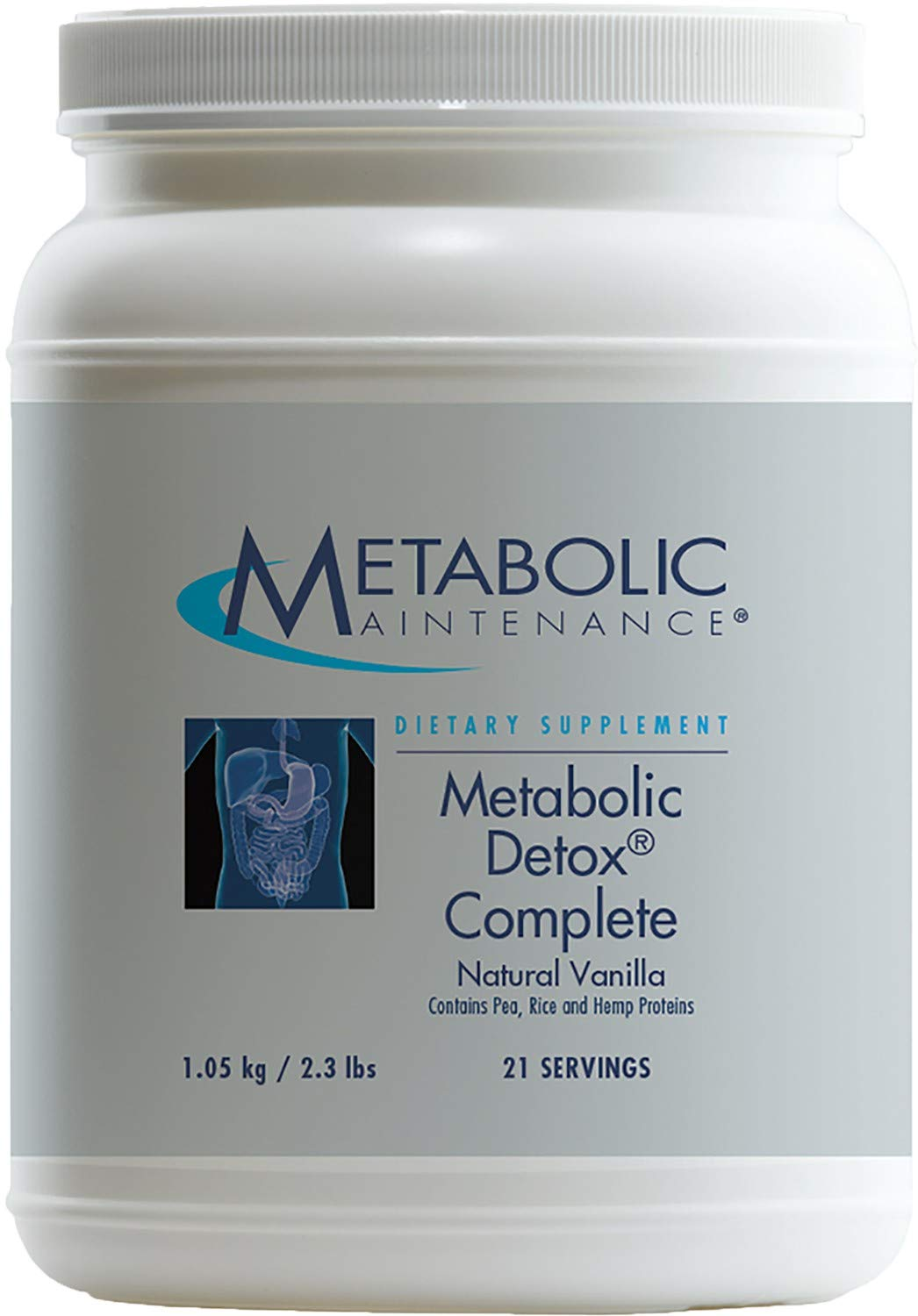 Metabolic Maintenance - Metabolic Detox Complete Vanilla - Cleansing Support Powder, 2.3 lbs