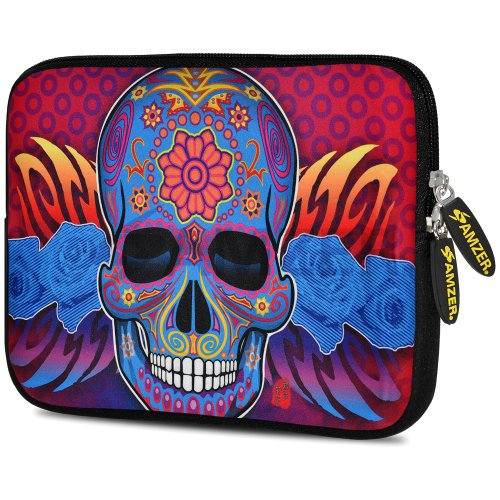 amzer-775-inch-designer-neoprene-sleeve-case-cover-pouch-for-tablet-ebook-and-netbook-skull-fashion-