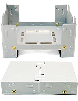 Hornillo compacto de Outdoor SAXX® para combustible fósil seco, plegable, para calentar latas