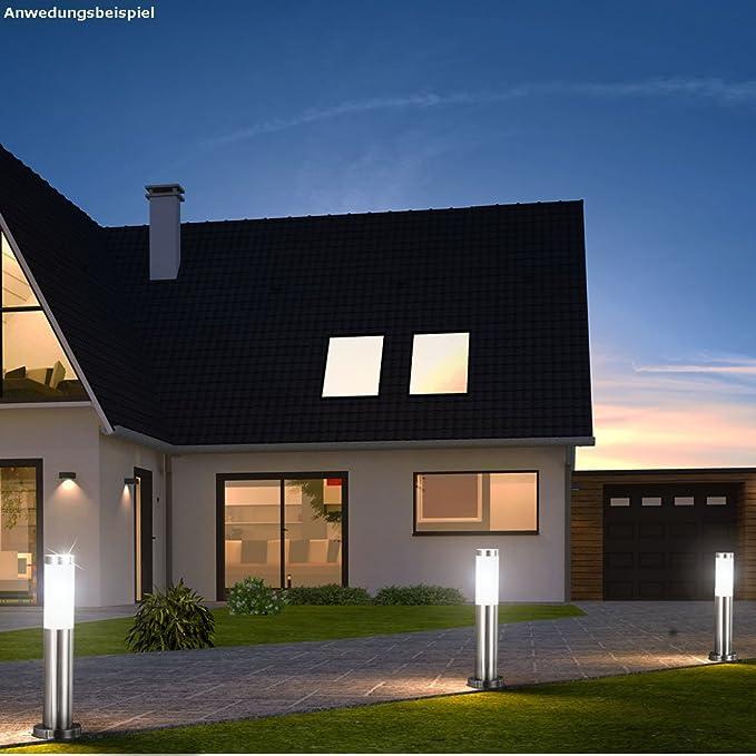 3er Set LED Außenbereich Stecklampe Veranda Terrasse Hof Weg Kugelform Einfahrt