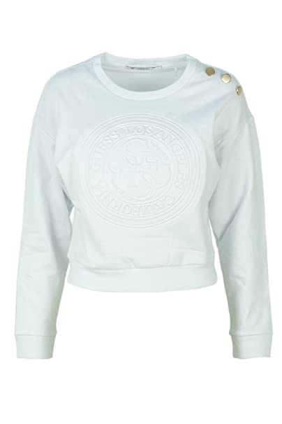 Guess Sudadera para Mujer Cropped Forro Polar w83q15 K6930 Blanco XL: Amazon.es: Ropa y accesorios