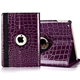 iPad mini 360 Rotating Case, Umiko(TM) PU Leather 360 Rotating Smart Case Cover w/Stand for Apple ipad mini 1 2 3-Purple
