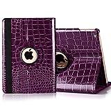 iPad mini 360 Rotating Case, Umiko(TM) PU Leather 360 Rotating Smart Case Cover w/Stand for Apple ipad mini 1 2 3-Purple