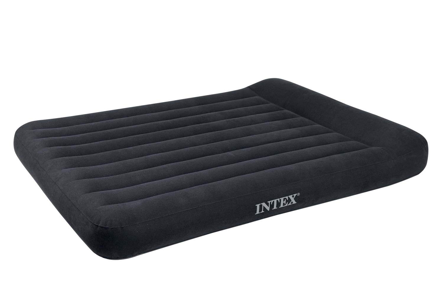 Intex Classic Inflatable Full Dura Beam Air Mattress Bed w/Pillow Rest + Pump