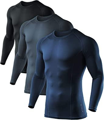 Mens Compression Tops Base Layer Sport Joggers Muscle Gym Running Sports T Shirt