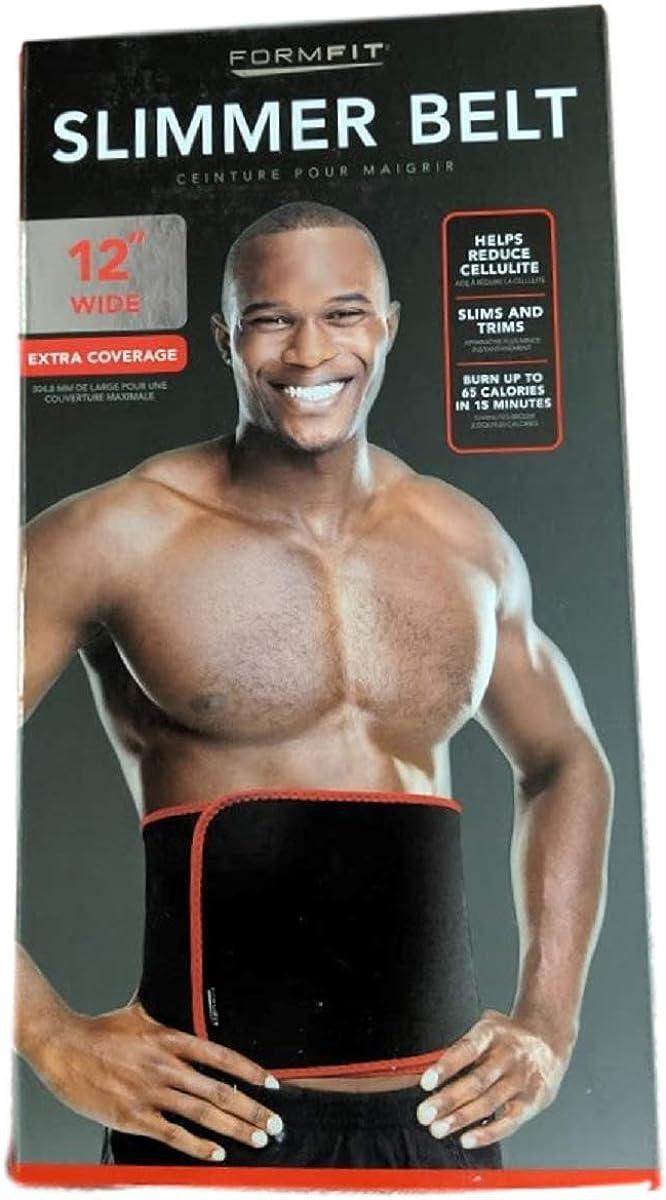 RED//BLK FORMFIT 12 Wide Mens Slimmer Belt