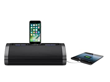 huge discount 56308 edc52 iHome 2.1 Speaker Dock Docking Station Mains Powered Charging Station with  Tru Bass and USB Fast Charging for Smartphones/Tablets Compatible with ...