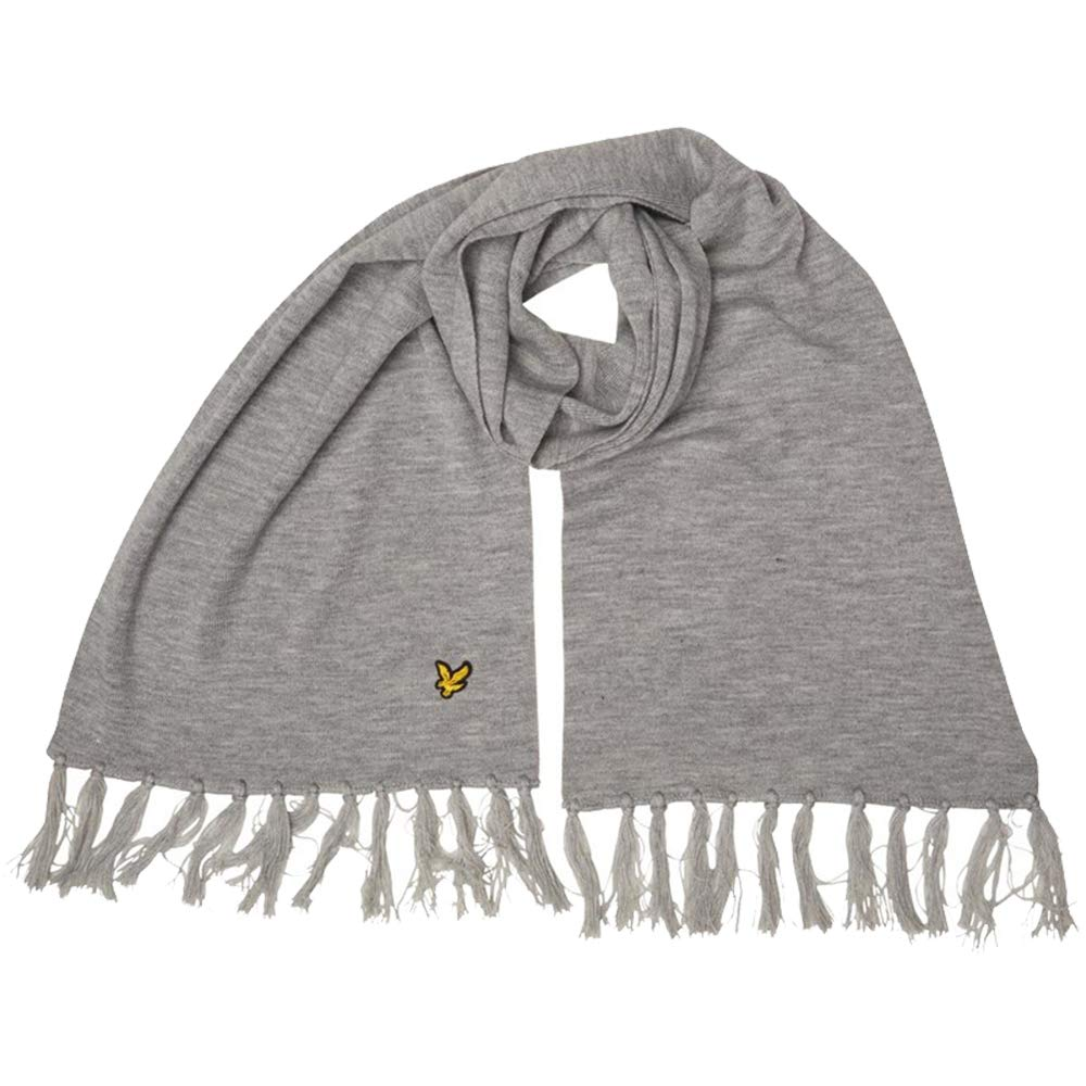Lyle And Scott Mens Embroidered Logo Vintage Scarf