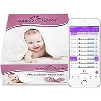 Easy@Home 50 x Ovulatietesten en 20 x Zwangerschapstesten, Met Premom Ovulatie Predictor iOS en Android App, 50 LH +20…