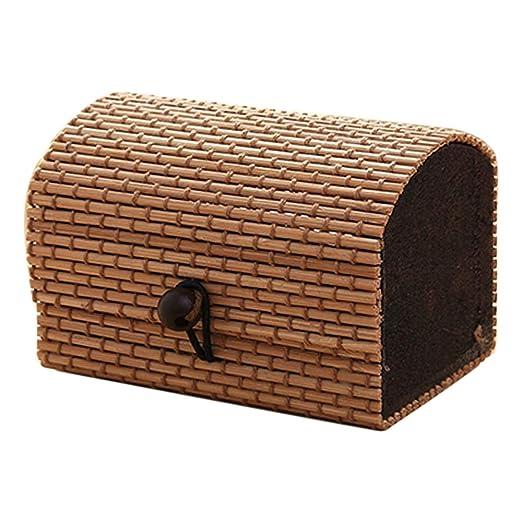 jhtceu - Caja de Almacenamiento de Madera de bambú de Alta ...