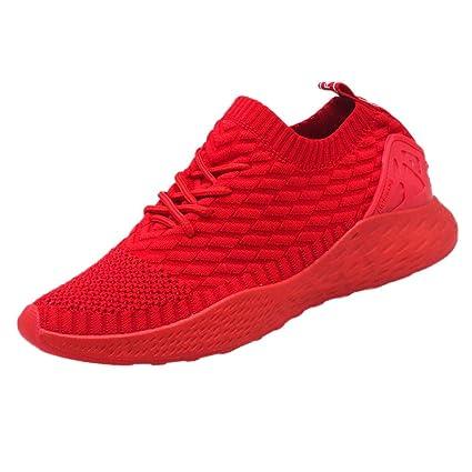 LuckyGirls Calzado Deportivo Zapatos De Running Ligero Malla Casuales Zapatillas De Correr Moda Zapatillas para Hombre