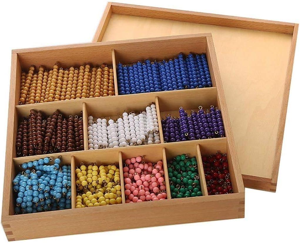 YYSDH 2020 Montessori Math Material De Bolas con La Caja para El Aprendizaje Temprano Preescolar Juguete Contiene 55 Conjuntos De El Color del Grano De Barras 1-10: Amazon.es: Deportes y aire libre