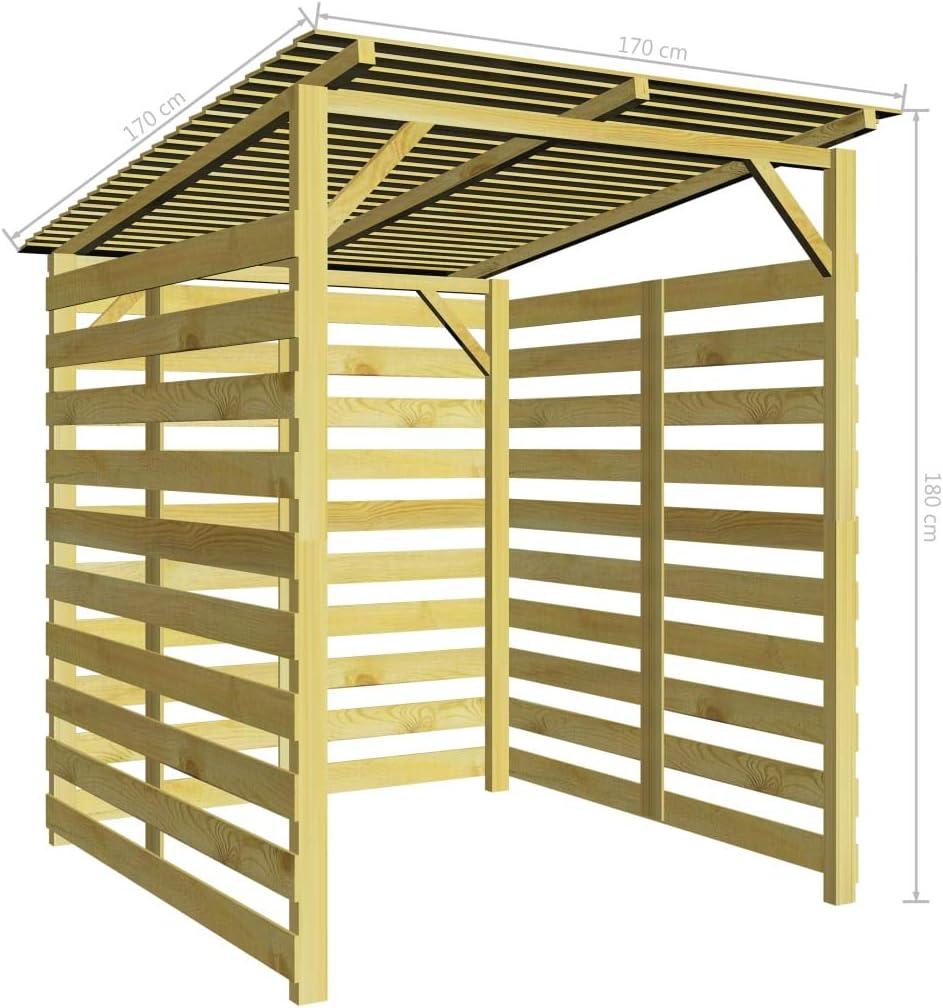 vidaXL Caseta para Leña de Jardín Madera de Pino Cobertizo Casetilla Almacenaje Bicicletas: Amazon.es: Jardín