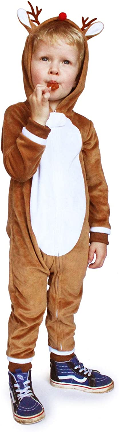 Holiday Onsie for Boys and Girls Tipsy Elves Kids Reindeer Jumpsuit