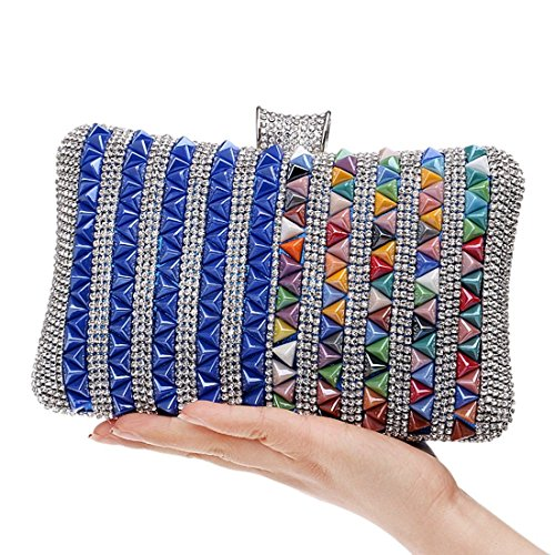 Evening Bag Multicolor Bag Fly Dress Multicolor 1 New Dinner evening Color Bag Female Bag bag Diamond 3 Clutch encrusted Banquet Cfvqtf