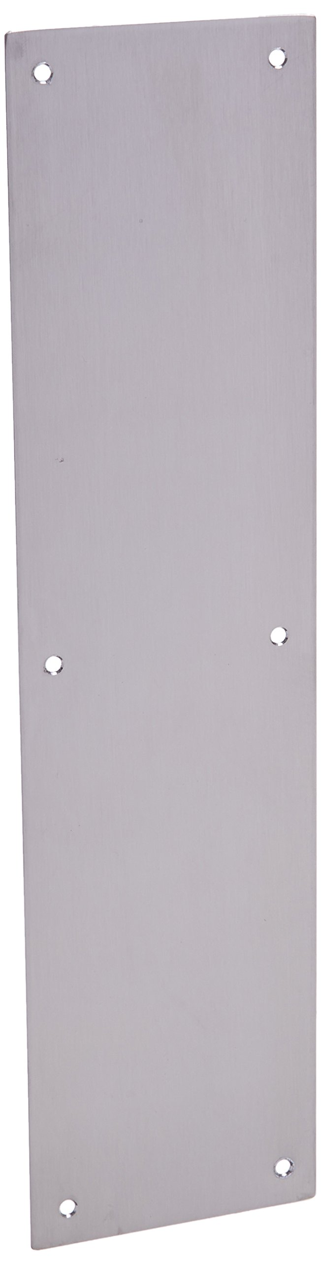 Cal Royal PSPL401632D Push Plate, 4 by 16-Inch, Satin Stainless Steel