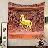 Keshia Dwete Custom tapestry horse wood carvings in thai land
